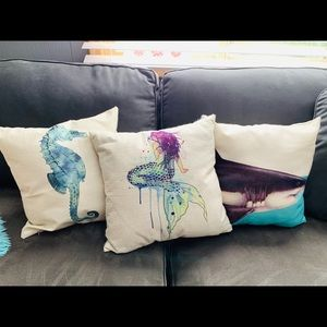 Other - Set of 3 Pillow Covers Ocean Beach Theme